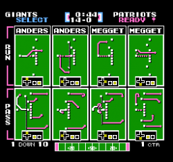 Tecmo Super Bowl Playbook