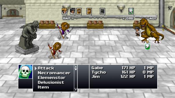 Tycho, Gabe, and Jim battle in Rain-Slick 3