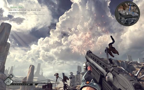 Shotgun fireworks but not a popgun ooh look at the clouds phallic imagery.