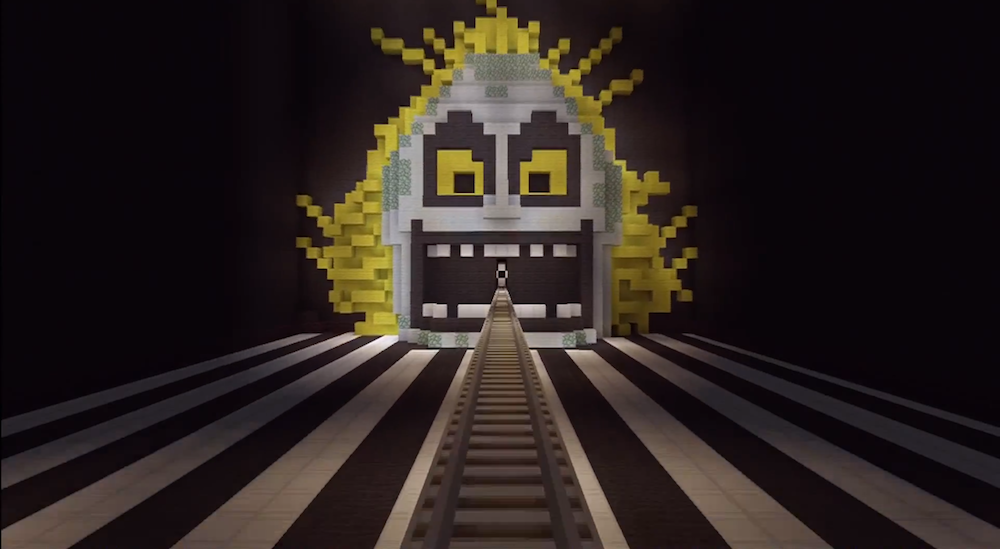 Hey! Watch! Beetlejuice Tribute on a Minecraft Coaster