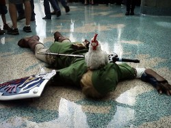 Link is dead, a chicken did it. Let's kill that feathered, dinosaur looking asshole.