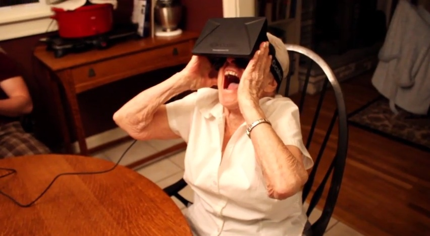 Hey! Watch! Grandma Loves the Oculus Rift