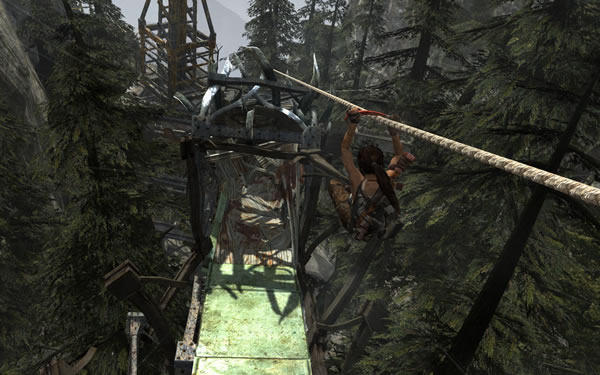 Tomb Raider Zip Line