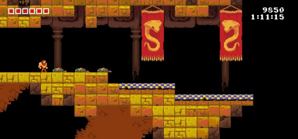 Tiny Barbarian DX snake banners