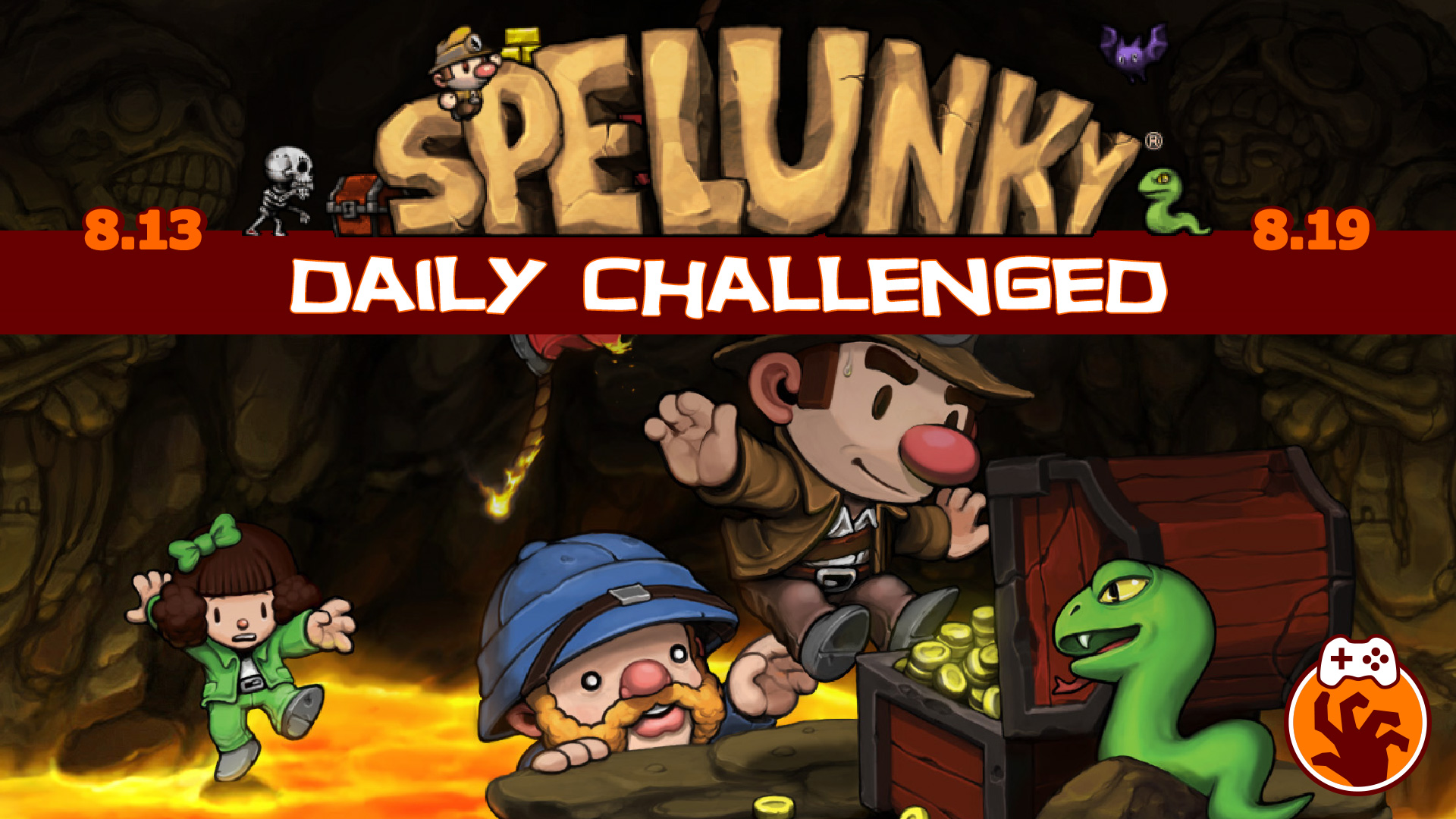 Spelunky Daily Challenged Week #1 Highlight (Death) Reel with JDevL