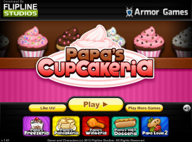 Cheap and Dirty Gamer: Of Cupcakes and Trauma, Papa's CupCakeria