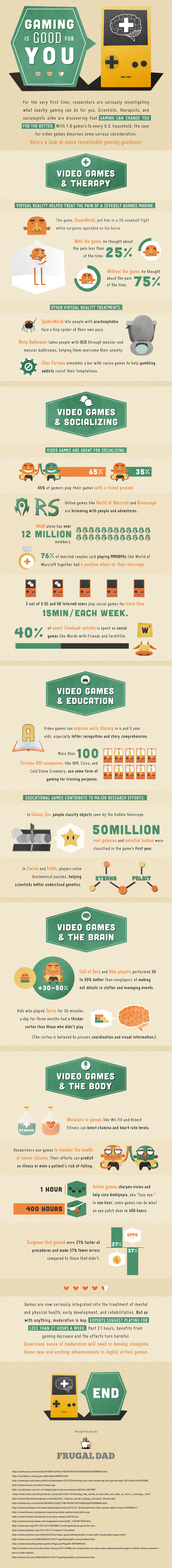 This Infographic Proves that Gaming is Good for You