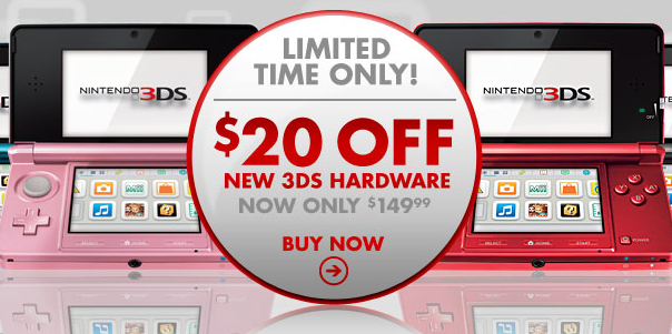 3DS Drops to $150 at Gamestop through Feb 12