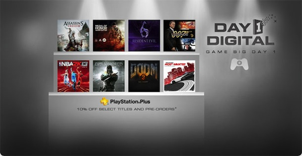 PSN Bringing Discounted Day 1 Digital Retail Releases in October