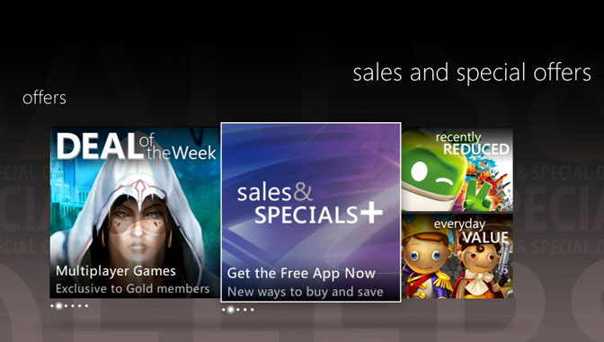Sales & Specials App Released on Xbox 360