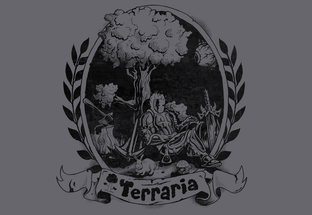 Make a Statement about your Love of Terraria with a Sweet T-Shirt or Three
