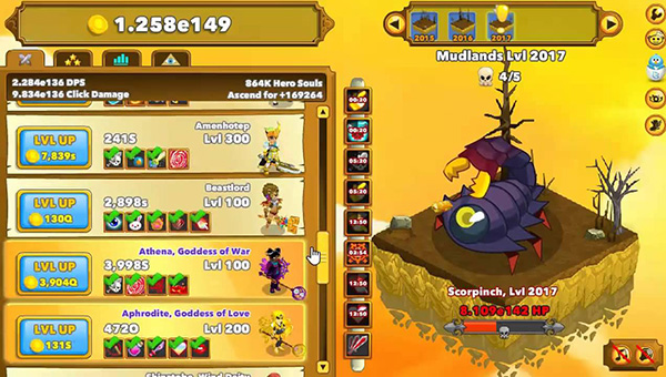 Played Clicker Heroes: Idle My Life Away
